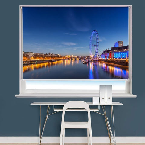 London Eye Image Printed Roller Blind - RB818 - Art Fever - Art Fever