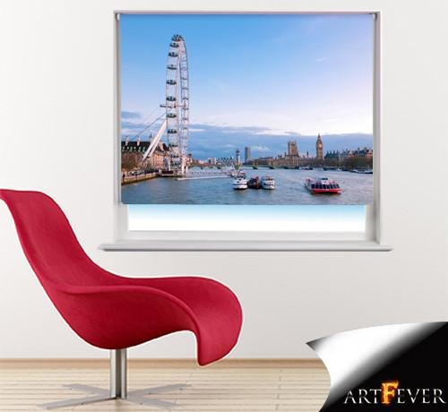 London Eye Printed Picture Photo Roller Blind - RB36 - Art Fever - Art Fever