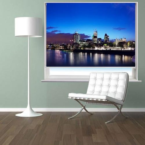 London skyline at night Printed Picture Photo Roller Blind - RB275 - Art Fever - Art Fever