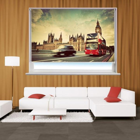 London taxi cab Printed Picture Photo Roller Blind - RB263 - Art Fever - Art Fever