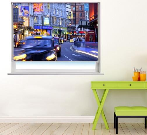 London Taxi Printed Picture Photo Roller Blind - RB81 - Art Fever - Art Fever