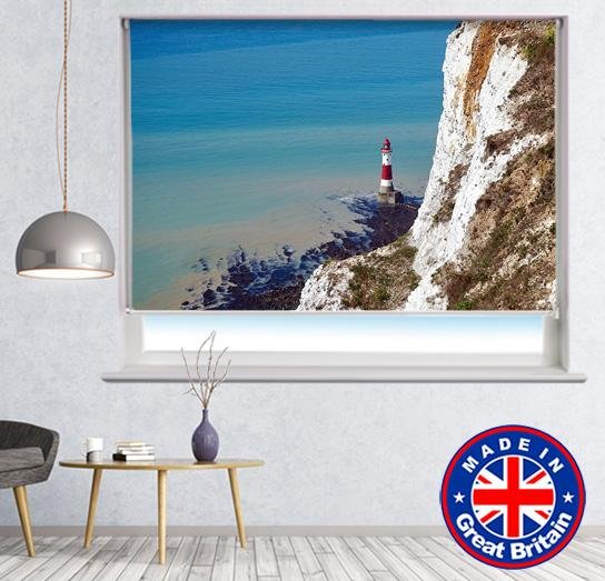 Lonely lighthouse by cliff Printed Picture Photo Roller Blind - RB661 - Art Fever - Art Fever
