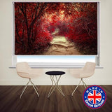 MAGICAL RED FOREST PHOTO PRINTED ROLLER BLIND - CLEARANCE ITEM 175CM WIDE X 140CM - Art Fever - Art Fever