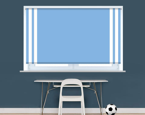 Manchester Blue Football Colours Image Printed Picture Photo Roller Blind - RB9410 - Art Fever - Art Fever