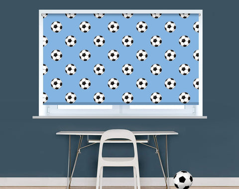 Manchester Blue Football Pattern Image Printed Picture Photo Roller Blind - RB942 - Art Fever - Art Fever