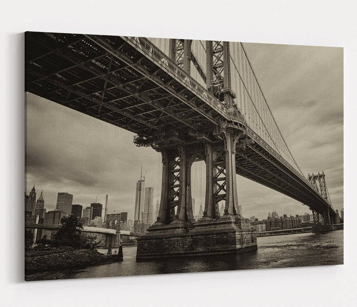 Manhattan Bridge, New York City Printed Canvas Print Picture - SPC172 - Art Fever - Art Fever