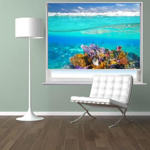 Mayan Riviera Coral Reef Printed Picture Photo Roller Blind - RB283 - Art Fever - Art Fever