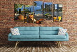 Miami Skyline at Night Multi Panel Canvas Print wall Art - MPC10 - Art Fever - Art Fever