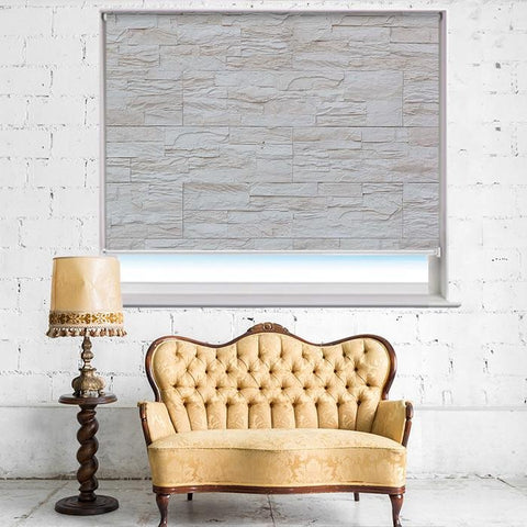 Modern Stone Wall Printed Photo Picture Roller Blind - RB405 - Art Fever - Art Fever