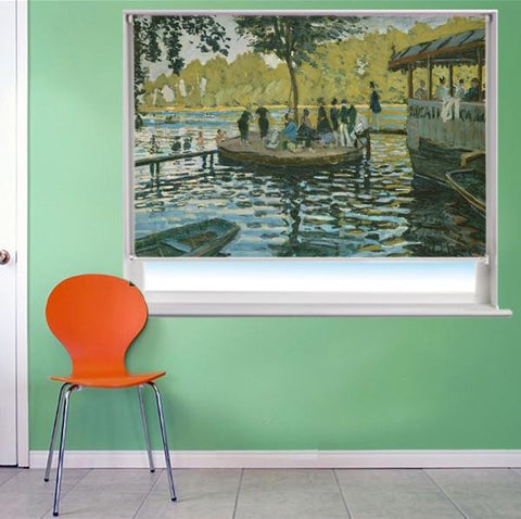 Monet Bain à la Grenouillère Art Printed Picture Photo Roller Blind - RB279 - Art Fever - Art Fever