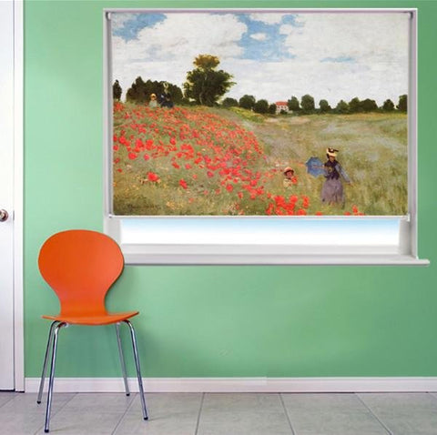 Monet Poppy Field Art Printed Picture Photo Roller Blind - RB278 - Art Fever - Art Fever