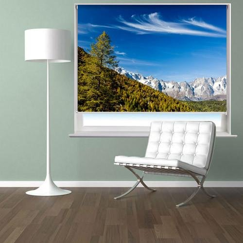 Mont Blanc landscape Printed Picture Photo Roller Blind - RB48 - Art Fever - Art Fever