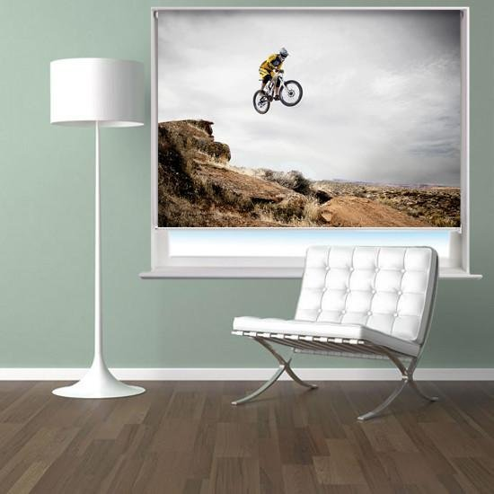 Mountain bike Air Printed Picture Photo Roller Blind - RB306 - Art Fever - Art Fever