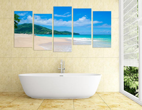 MPC2 - Tropical Paradise Beach Multi Panel Canvas Print - Art Fever - Art Fever