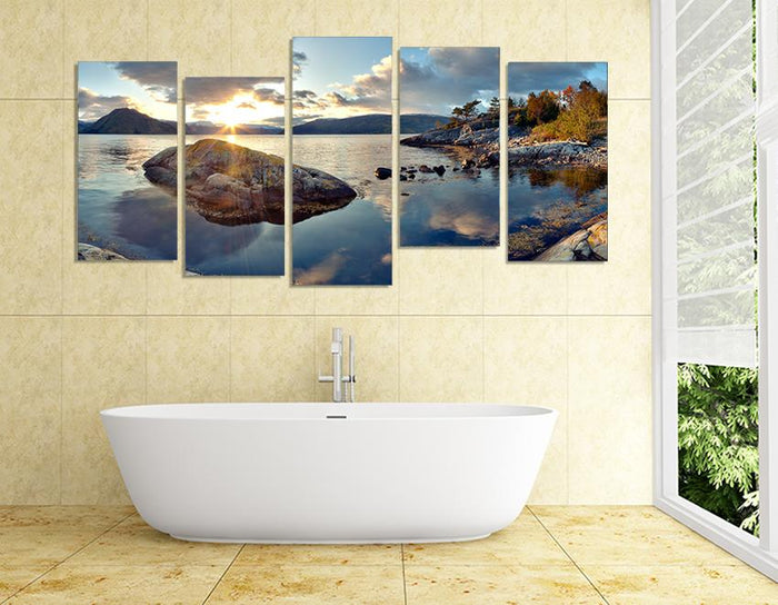 MPC3 - The Tranquil Lake Multi Panel Canvas Print - Art Fever - Art Fever