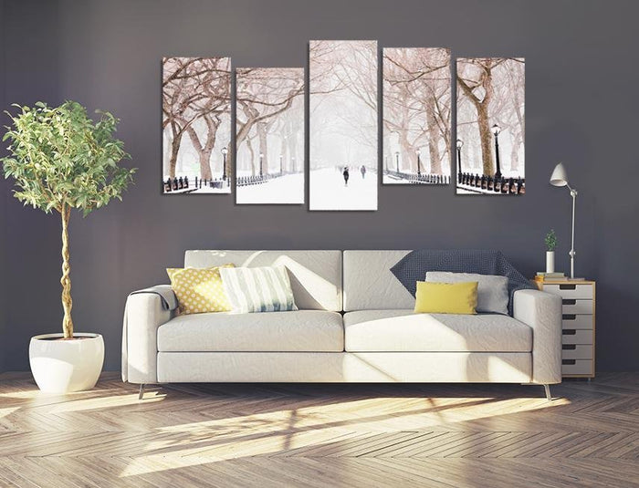 MPC8 - New York Central Park Snow Multi Panel Canvas Print - Art Fever - Art Fever