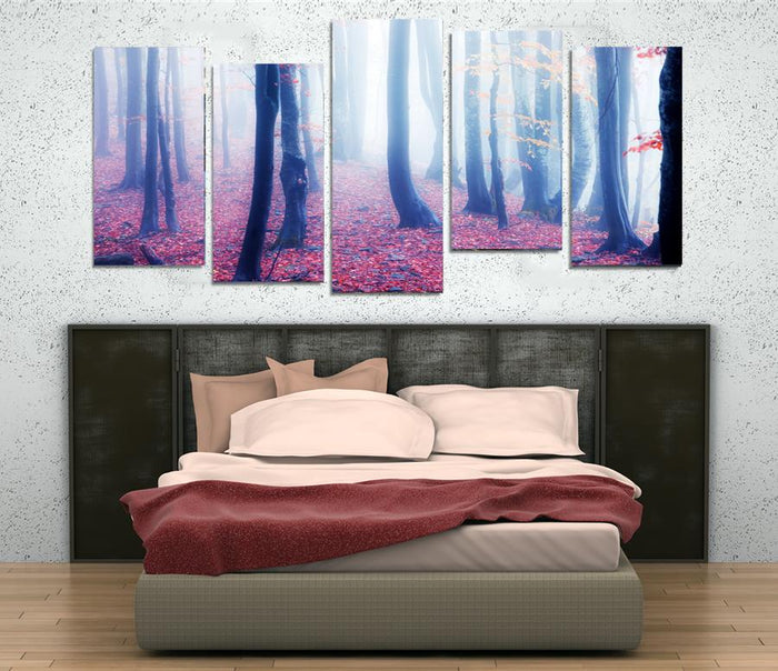MPC9 - The Foggy Forest Multi Panel Canvas Print - Art Fever - Art Fever