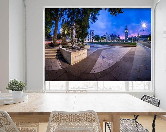 Nelson Mandela Memorial at London with Big Ben Printed Picture Photo Roller Blind - RB673 - Art Fever - Art Fever
