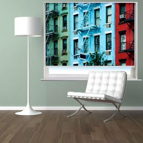 New York Apartments Printed Picture Photo Roller Blind - RB29 - Art Fever - Art Fever