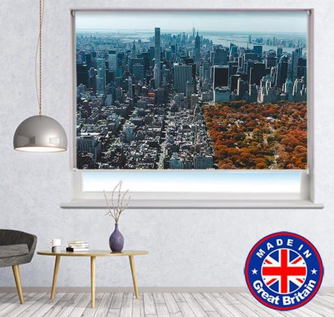 New York Central Park View Printed Picture Photo Roller Blind - RB545 - Art Fever - Art Fever
