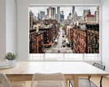 New York City Manhattan Street View Skyscrapers Printed Picture Photo Roller Blind - RB686 - Art Fever - Art Fever