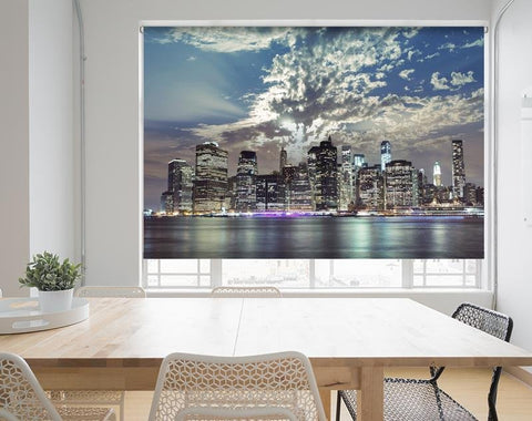 New York City Skyline over the River Hudson Printed Picture Photo Roller Blind - RB687 - Art Fever - Art Fever