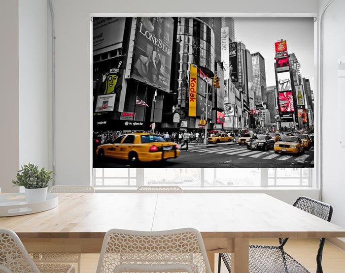 New York City Times Square Printed Picture Photo Roller Blind - RB685 - Art Fever - Art Fever