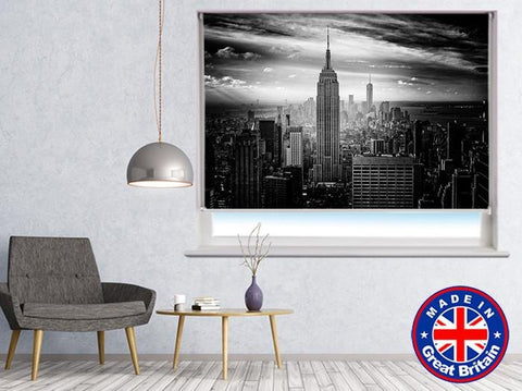 New York Skyline Black & White Printed Picture Photo Roller Blind - RB542 - Art Fever - Art Fever