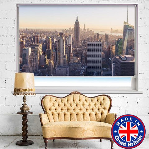 New York Skyline Sunrise Printed Picture Photo Roller Blind - RB543 - Art Fever - Art Fever