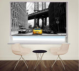 New York Taxi Brooklyn Bridge Printed Picture Photo Roller Blind - RB349 - Art Fever - Art Fever