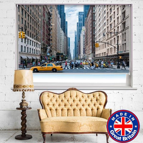 New York Yellow Taxis Printed Picture Photo Roller Blind - RB544 - Art Fever - Art Fever