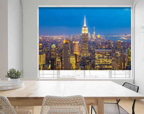 NYC Empire State Building Lights at Night Printed Picture Photo Roller Blind - RB688 - Art Fever - Art Fever