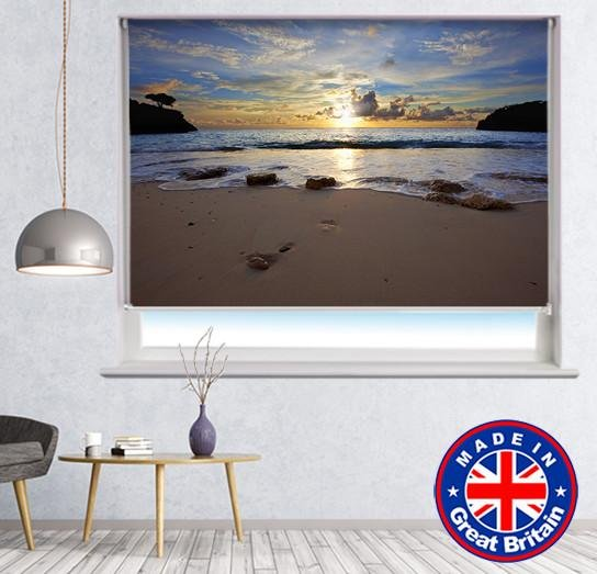 Ocean waves at sunset Seascape Printed Photo Roller Blind - Art Fever - Art Fever