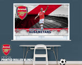 Official Arsenal F.C. Aubameyang Player Design Printed Roller Blind - RB915 - Art Fever - Art Fever