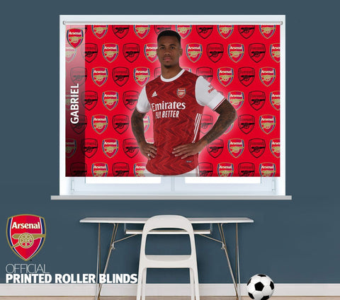 Official Arsenal F.C. Gabriel 2020 Player Design Printed Roller Blind - RB1032 - Art Fever - Art Fever
