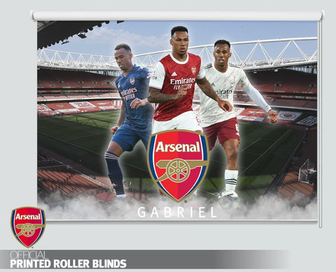 Official Arsenal F.C. Gabriel Three Kit Design 2020 Printed Roller Blind - RB1042 - Art Fever - Art Fever
