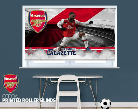 Official Arsenal F.C. Lacazette Player Design Printed Roller Blind - RB914 - Art Fever - Art Fever