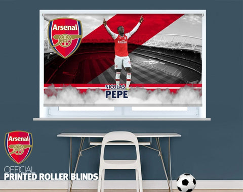 Official Arsenal F.C. Nicolas Pepe Player Design Printed Roller Blind - RB916 - Art Fever - Art Fever