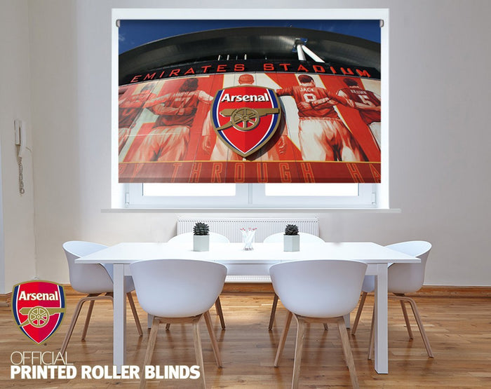 Official Arsenal F.C. Outside The Emirates Stadium Printed Roller Blind - RB885 - Art Fever - Art Fever