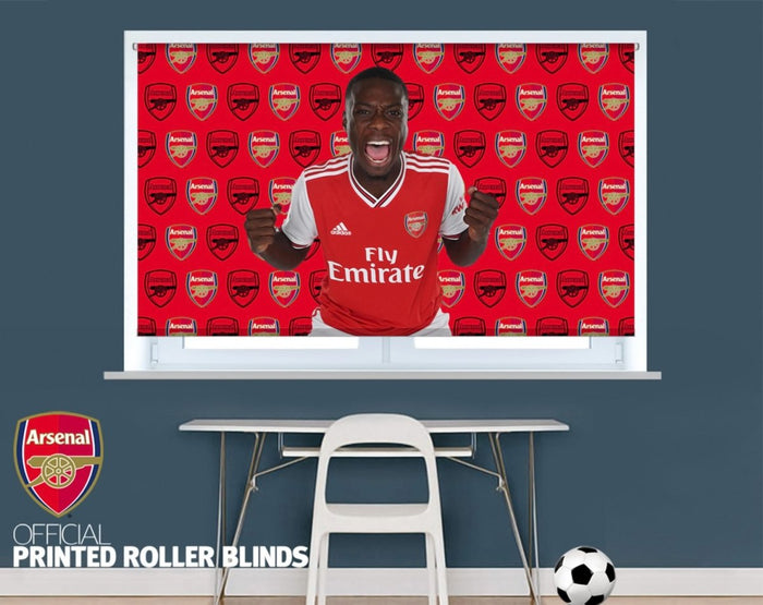 Official Arsenal F.C. Pepe Double Crest Background Image Printed Roller Blind - RB890 - Art Fever - Art Fever