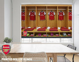 Official Arsenal F.C. Players Changing Room Image Printed Roller Blind - RB875 - Art Fever - Art Fever