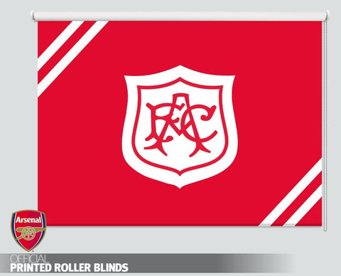 Official Arsenal F.C. Retro 1927 White Crest Picture Photo Roller Blind - RB1098 - Art Fever - Art Fever