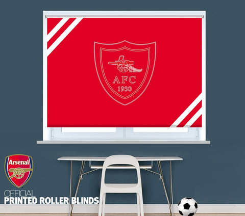 Official Arsenal F.C. Retro 1930 Crest Picture Photo Roller Blind - RB1100 - Art Fever - Art Fever