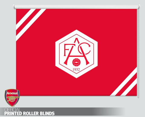 Official Arsenal F.C. Retro 1932 White Crest Picture Photo Roller Blind - RB1101 - Art Fever - Art Fever