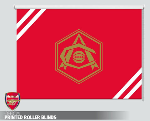 Official Arsenal F.C. Retro Art Deco Gold Crest Printed Roller Blind - RB1106 - Art Fever - Art Fever
