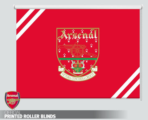 Official Arsenal F.C. Retro VCC Crest Printed Roller Blind - RB1107 - Art Fever - Art Fever