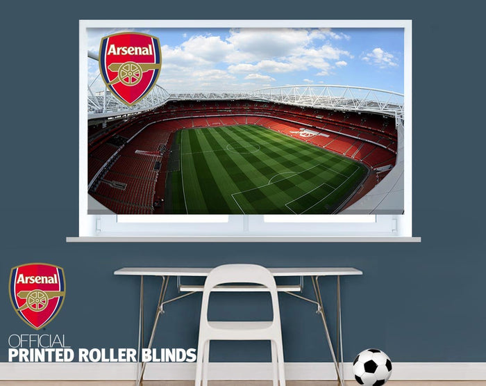 Official Arsenal F.C. The Emirates Stadium Aerial View Image Printed Roller Blind - RB923 - Art Fever - Art Fever