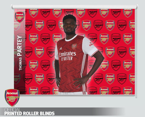 Official Arsenal F.C. Thomas Partey 2020 Design Printed Roller Blind - RB1038 - Art Fever - Art Fever