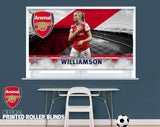 Official Arsenal Woman's F.C. Leah Williamson Player Design Printed Roller Blind - RB918 - Art Fever - Art Fever