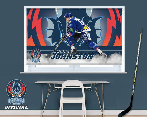 Official Coventry Blaze Andrew Johnston Player Image Printed Photo Roller Blind - RB982 - Art Fever - Art Fever